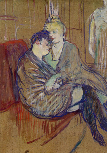Two Girlfriends -- Henri de Toulouse-Lautrec